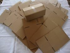 20 Brown Corrugated Shipping Box 8x4x3 Sunglasses Cardboard Carton Packing Maile