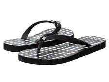 NEW ARRIVAL! COACH AMEL RUBBER PAINTED GINGHAM BLACK SLIPPERS FLIP-FLOPS 5 35