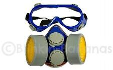 REUSABLE DUST FACE MASK RESPIRATOR VALVE SET PAIR PROTECTIVE EYE SAFETY GOGGLES