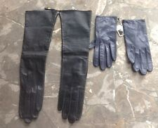 2 Pair Gloves NEW Roger Fare Made In France Black Navy Real Kid Silk Lining