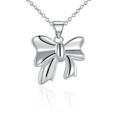 925Sterling Silver Fashion Jewelry Lovely bowknot Woman Children Necklace NB619