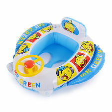 Baby Swimming Seat Car Ring Inflatable Float Aid Steering Wheel Trainer Pool Toy