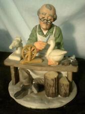 Vintage Lefton Old Man Series Wood Carver / Whittler #6888