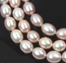 A+ 6x5mm  Light Pinklish Gray genuine Freshwater Pearl Rice Barrel Beads 16""