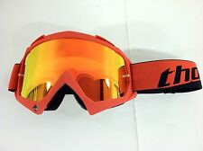 Thor Enemy Adult Red w/ Clear & Fire Iridium Mirrored Lens Dirtbike MX Goggle