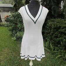 Perry Ashby London BEAUTIFUL Designer White Sexy TENNIS DRESS Small
