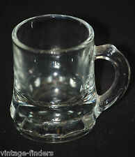Vintage Mini Clear Toy Mug by Federal w Panels at Base Shadowbox Glassware Decor