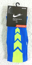 NWT 1 X PAIR NIKE MEN DRI-FIT COTTON BLUE SOCCER CUSHIONED CREW SOCKS SZ M