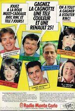 Publicité advertising 1984 Radio Monte Carlo RMC