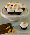 CARROT CARROTS Chocolate Candy Mold Cupcakes Topper Silicone Mould Sugarpaste