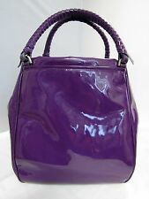 MALO PATENT LEATHER PURPLE SHOULDER TOTE HANDBAG LARGE