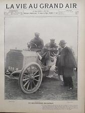 LA VIE AU GRAND AIR 1902 N 191 M.W.K VANDERBILT, RECORDMAN DE L' AUTOMOBILE