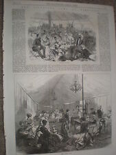 Fortune Telling and Ladies Club annual Wimbledon rifle shooting 1868 old prints