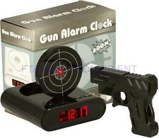 Laser Gun Alarm Clock Target Panel Shooting LCD Screen Target Panel Game Kid Toy
