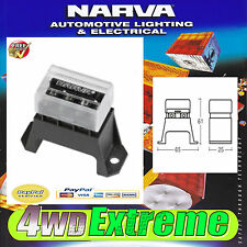 NARVA 4 WAY BLADE FUSE HOLDER RAISED ATS TRANSPARENT COVER 54421 8 TERMINAL CAR