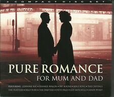PURE ROMANCE FOR MUM AND DAD - 3 CD BOX SET - JOHNNIE RAY, PAT BOONE & MORE
