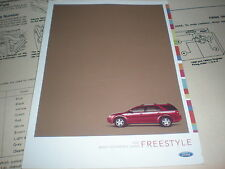 2005 FORD FREESTYLE OWNERS MANUAL QUICK REFERENCE SUPPLEMENT BOOKLET ORIGINAL
