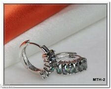 6.00 TOTAL CTW STERLING SILVER 925 MYSTIC TOPAZ HUGGIE HOOP EARRINGS-MTH-2-KIT-T