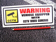 1 x cctv caméra avertissement autocollant 230mm van/camion taille scania volvo renault daf