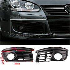 2x Front Bumper Fog Light Grills Grilles Open Vent Cover for VW Jetta MK5 06-09