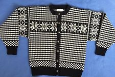Pleasant Company American Girl Kirsten Black White Cardigan Sweater XL Retired