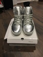 Men's Supra Metallic Skytop Pewter Leather Shoes Size 13 MUSKA 001