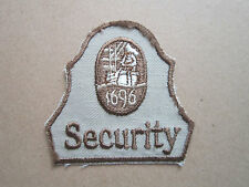 1696 Security Woven Cloth Patch Badge (L1K)