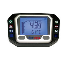 ACEWELL 3904 UNIVERSAL MOTORCYCLE SPEEDOMETER GAUGE COMPUTER KM/H OR MPH