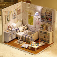 1 Pcs Doll House DIY Handmade Wooden Miniature Furniture 3D Dollhouse Toys WE