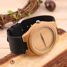 Vintage wooden dial watch quartz watches Men Women Couple Watch Black Pointer U
