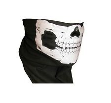 NEW SKULL MASK FOR MOTORBIKE BMX SKI MOTORCROSS - NECK WARMER -TUBALAR DESIGN