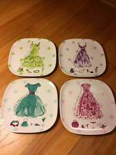 Rossana All I Need set of 4 Salad Plates~ MINT~ BOXED IN A HAND BAG TYPE BOX