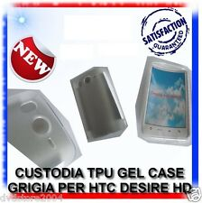 COVER CUSTODIA TPU GEL CASE GRIGIA per HTC DESIRE HD