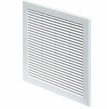 "White Louvre Vent 12"" x 12"" Air Vent Grille 300mm x 300mm Ventilation Cover Grid"