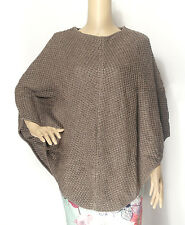 Luxurious Cashmere Poncho Cardigan Handmade in Nepal
