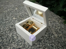 """""""When You Wish Upon a Star"""" Wood Music Box With Sankyo Musical Movement (White)"""