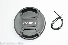 77mm Center-Pinch Snap-On Front Lens Cap for Canon DSLR Camera lens