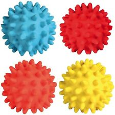 Latex Hedgehog Ball Dog Toy with Sound Squeaker 7cm