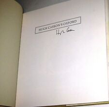 SIGNED Hugh Casson's Oxford A College Notebook by Hugh Casson 1994 Hardcover