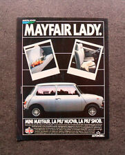 [GCG] L206- Advertising Pubblicità -1984- MINI MAYFAIR LADY , LA PIU' SNOB