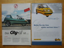 CITY-EL Electric Microcar Trike rare brochures x2 - City Com Germany