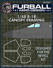 1/48 Furball B-1B Canopy Seal Decals for the Revell Kit