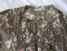 Denim & Supply By Ralph Lauren Ruffled Poet Blouse/Top TAUPE FLORAL SIZE M new!