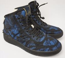 Valentino Camubutterfly Print High Top Blue Men's Sneakers Shoes Size 43 EU / 10