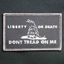 LIBERTY OR DEATH DONT TREAD ON ME USA ARMY TACTICAL SWAT VELCRO MORALE PATCH