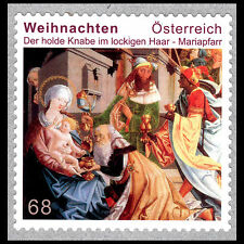 "Austria 2016 - Christmas ""The Meek Child with the Curly Hair"" Art - MNH"