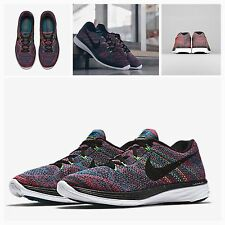 BNIB Nike UK 8 | Mens Flyknit Lunar 3 Trainers | Gym Shoes Run | 698181-302