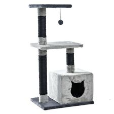 Pet Cat Grey Tree Tower Condo Scratcher Furniture Kitten House Toy Luxury