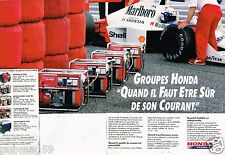 Publicité Advertising 1989 (2 pages) Honda Energie groupe electrogène