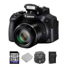 Canon PowerShot SX60 HS 16.1MP Digital Camera + 2 Batteries, 32GB & More